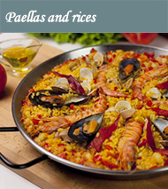 Paellas and rices