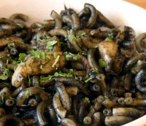 Fideos negros del menú del dia Restaurant Sant Antoni de Premià de Dalt